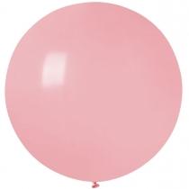 """Латексные шары круглые без рисунка 1102-3138 и 27""""/73 пастель розовый матовый"""