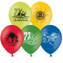"""Латексные шары круглые 1103-0055 Шар с рисунком 12"""" 23 Февраля"""