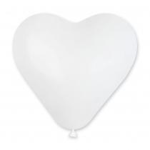 """Латексные шары сердца 1105-0005 сердце 10"""" белое /ит"""