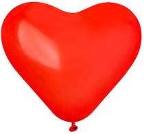 """Латексные шары круглые  1105-3015 Сердце 16"""" Пастель Красное/Ит"""