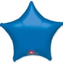 """Фольгированные шары без рисунка 1204-0045 а б/рис звезда 19"""" металлик blue s15"""