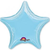 """Фольгированные шары 1204-0053 А Б/РИС ЗВЕЗДА 19"""" Пастель Blue S15"""