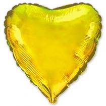"""Фольгированные шары 1204-0124 Ф Б/РИС 32"""" СЕРДЦЕ Металлик Золотое(FM)"""