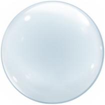 """Фольгированные шары без рисунка 1204-0626 к bubble сфера 24"""" б/рис"""