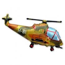 Фольгированные шары 1207-1410 Ф ФИГУРА/11 Вертолет милитари/FM