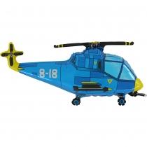 Фольгированные шары 1207-3158 Г ФИГУРА Вертолет синий