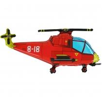 Фольгированные шары 1207-3159 Г ФИГУРА Вертолет красный