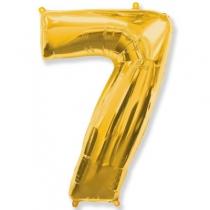 Фольгированные шары 1207-3265 Ф ЦИФРА 7 Gold