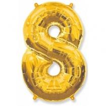 Фольгированные шары 1207-3266 Ф ЦИФРА 8 Gold
