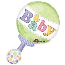 Фольгированные шары 1207-3298 А ФИГУРА Погремушка для малыша