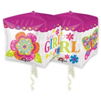 """Фольгированные шары с рисунком 1209-0047 а 3d куб 15"""" hb малыш девочка g20"""