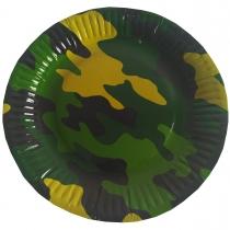 1502-1991 Тарелка бум Камуфляж 23см 6шт/G