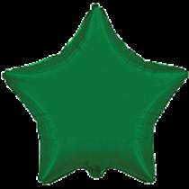 """Шар воздушный фольгированный 18"""" Звезда Зелёная FLEXMETAL"""