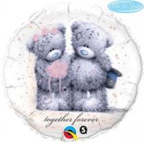 """Фольгированные шары с рисунком 3202-0142 п 18"""" me to you мы всегда вместе"""