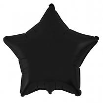 """Фольгированные шары без рисунка 3204-0013 ф б/рис 18""""звезда черная"""