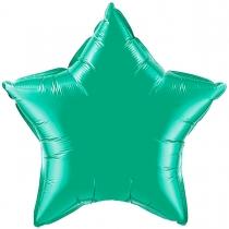 """Фольгированные шары без рисунка 3204-0017 ф б/рис 18""""звезда изумрудная"""