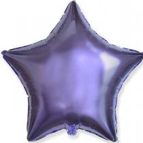 """Фольгированные шары без рисунка 3204-0018 ф б/рис 18""""звезда лиловая"""