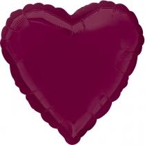 """Фольгированные шары без рисунка 3204-0127 а б/рис сердце 19"""" пастель berry s15"""