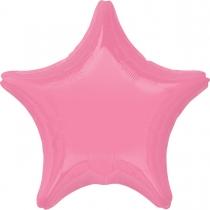 """Фольгированные шары без рисунка 3204-0130 а б/рис звезда 19"""" пастель bright bubble gum pink s15"""