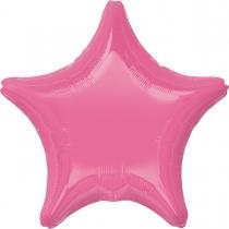 """Фольгированные шары без рисунка 3204-0131 а б/рис звезда 19"""" пастель rose s15"""