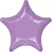 """Фольгированные шары без рисунка 3204-0134 а б/рис звезда 19"""" металлик pearl lavendar s15"""