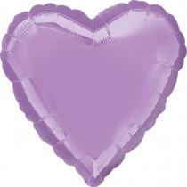 """Фольгированные шары без рисунка 3204-0135 а б/рис сердце 19"""" металлик pearl lavendar s15"""