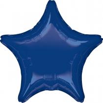 """Фольгированные шары без рисунка 3204-0137 а б/рис круг 19"""" металлик navy blue s15"""
