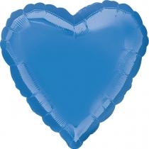 """Фольгированные шары без рисунка 3204-0143 а б/рис сердце 19"""" металлик барвинок periwinkle s15"""