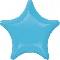 """Фольгированные шары без рисунка 3204-0146 а б/рис звезда 19"""" пастель caribbean blue s15"""