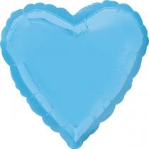 """Фольгированные шары без рисунка 3204-0148 а б/рис сердце 19"""" пастель pale blue s15"""