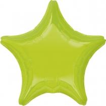 """Фольгированные шары без рисунка 3204-0152 а б/рис звезда 19"""" металлик kiwi green s15"""