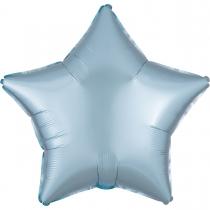 """Фольгированные шары без рисунка 3204-0572 а б/рис 18"""" звезда сатин светло голубой s15"""