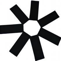3501-0010 Конфетти прямоугольные черное 100гр/У