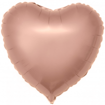 Шар (18''/46 см) Сердце, Розовое Золото, 1 шт.
