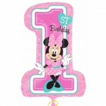 Minnie 1st Birthday, 71 * 48 cm, Anagram