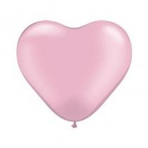 """Латексные шары круглые  1105-0080 Сердце 10"""" Розовое /Ит"""